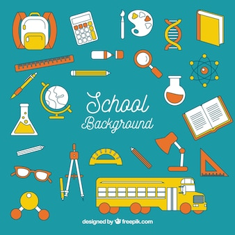 School background with elements