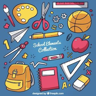 Sfondo scuola con elementi