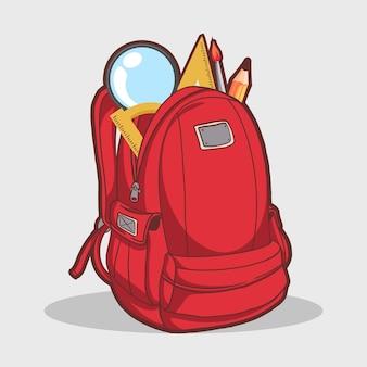学校のバックパック