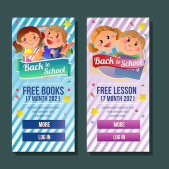 School banner vertical free book advertising