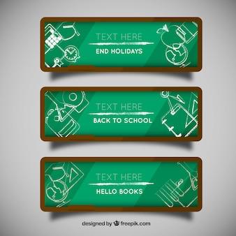 School blackboard banners