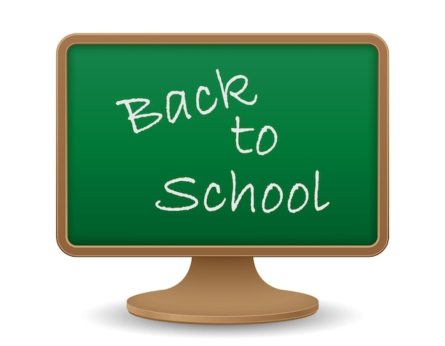School blackboard monitor screen education concept vector illustration vector illustration isolated on white background