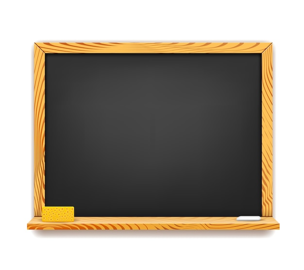 School blackboard with eraser