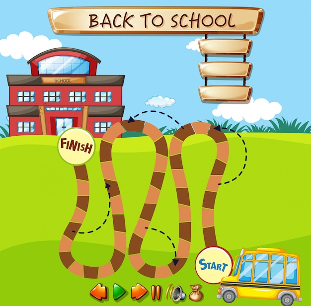 School board game template