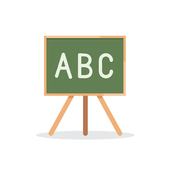 School board with letters alphabet icon