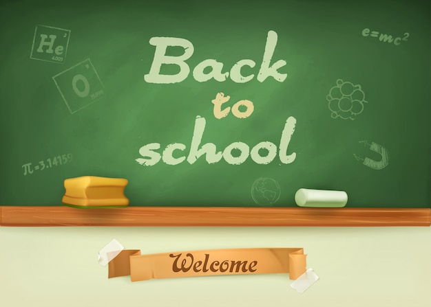 School board with welcome word