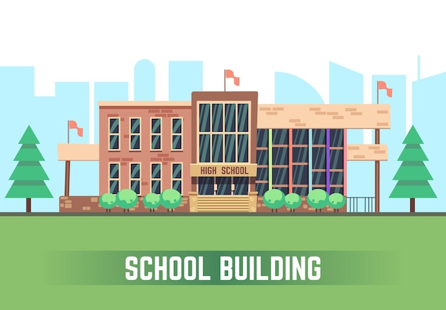 School building background
