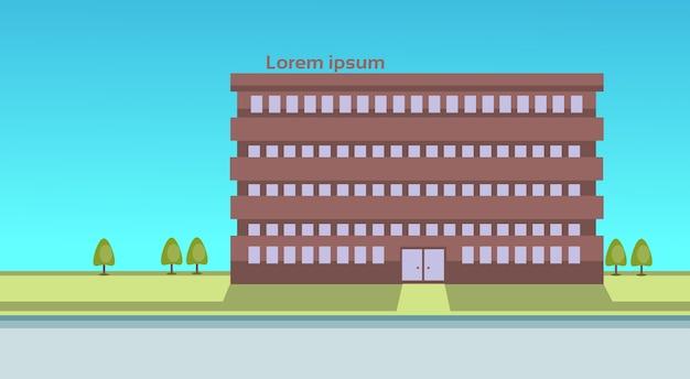 School building estate exterior city view