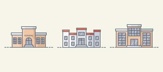 학교 건물 그림