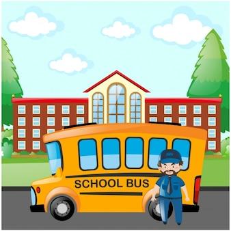 School bus background design