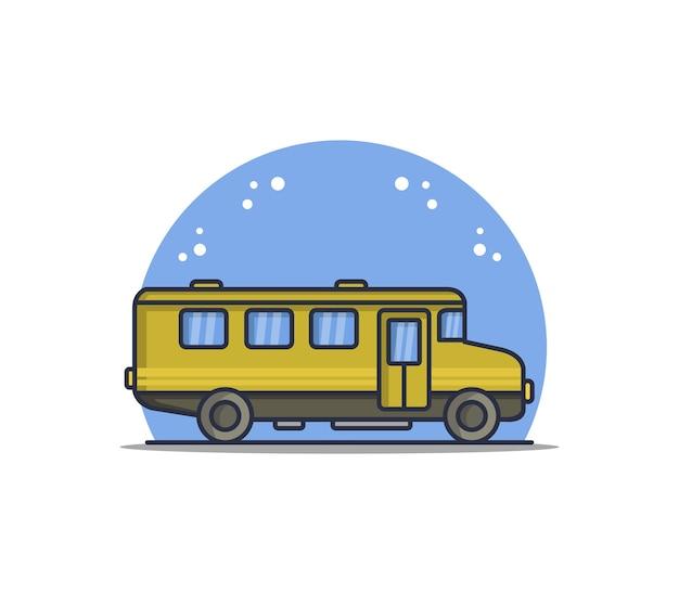 Школьный автобус иллюстрированный