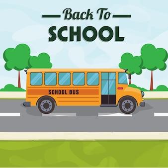 School bus side
