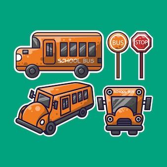 Школьный автобус простой дизайн