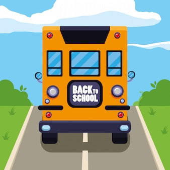 School bus in the street