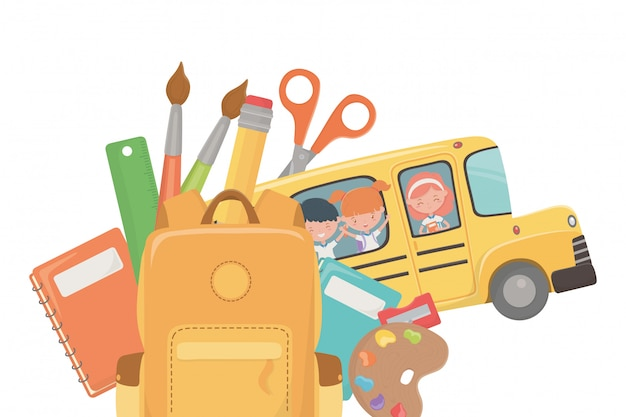 School bus and supplies design
