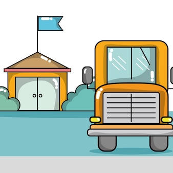 School bus to transport of students