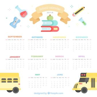 Школьный календарь, симпатичный стиль