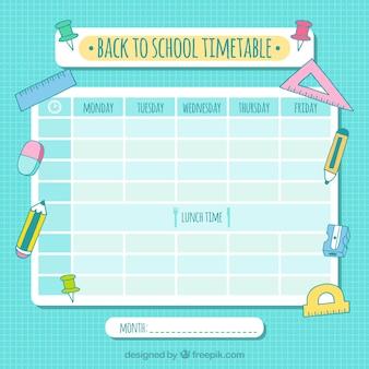 Школьный календарь с рисунками