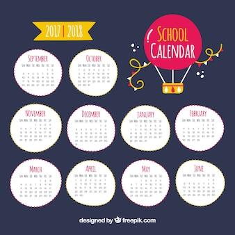 Calendario scolastico con palloncino ad aria calda