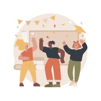 School celebration party illustration