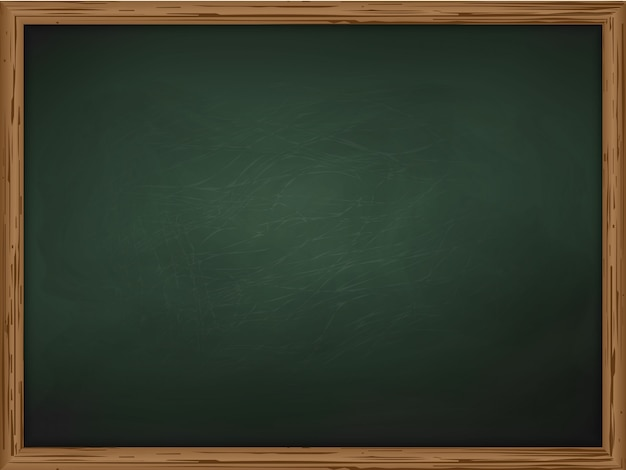School chalkboard background texture with frame vector