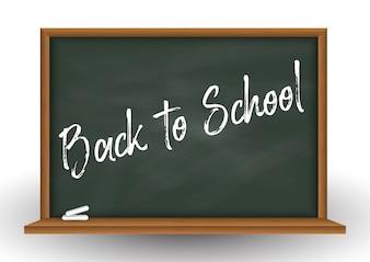 School chalkboard background with chalk
