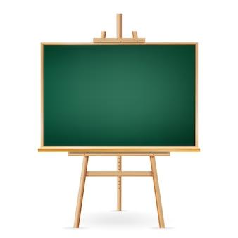 School chalkboard on white