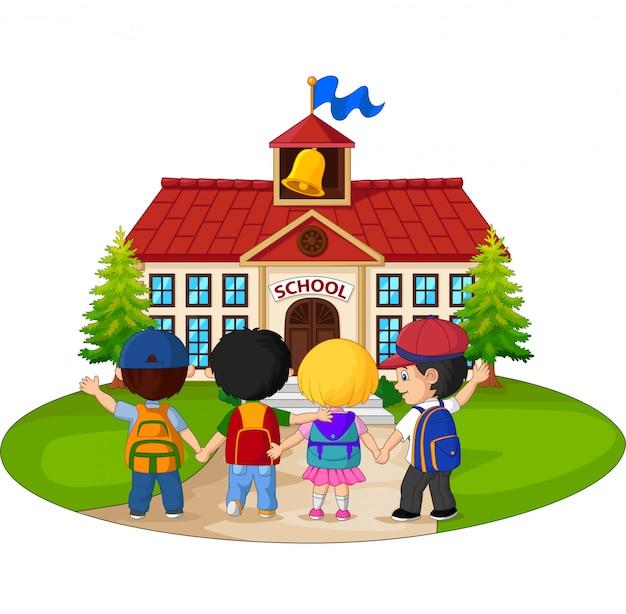 学校に通う学校の子供たち