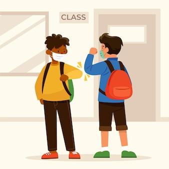 Школьники приветствуют новую норму