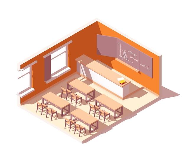 学校の教室のインテリア。