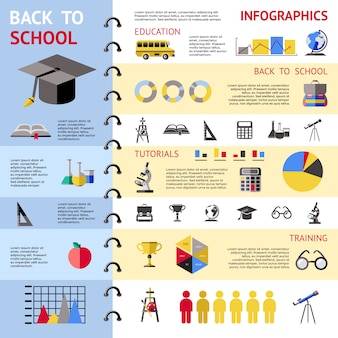 School colored infographic