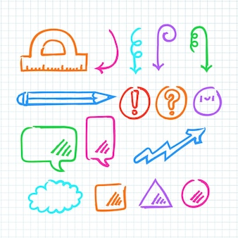 School colorful infographic elements