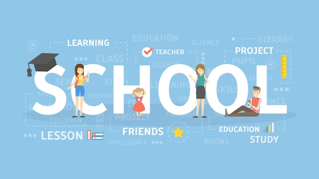 School concept illustration. idea of education, study and knowledge.
