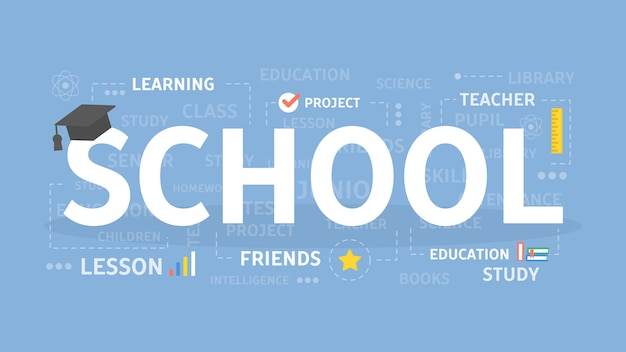 学校の概念図。