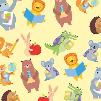 Школа милых животных фон