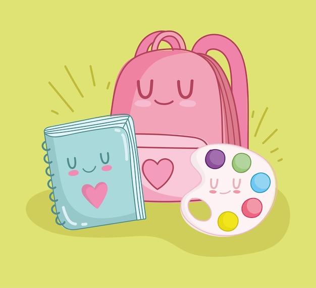 School cute book bag