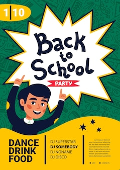 School dance party flyer