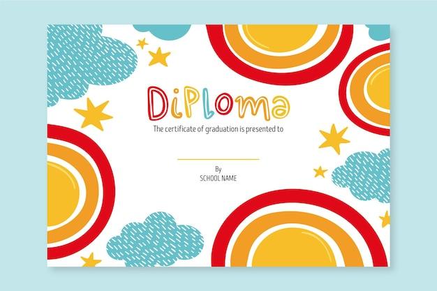 School diploma for kids