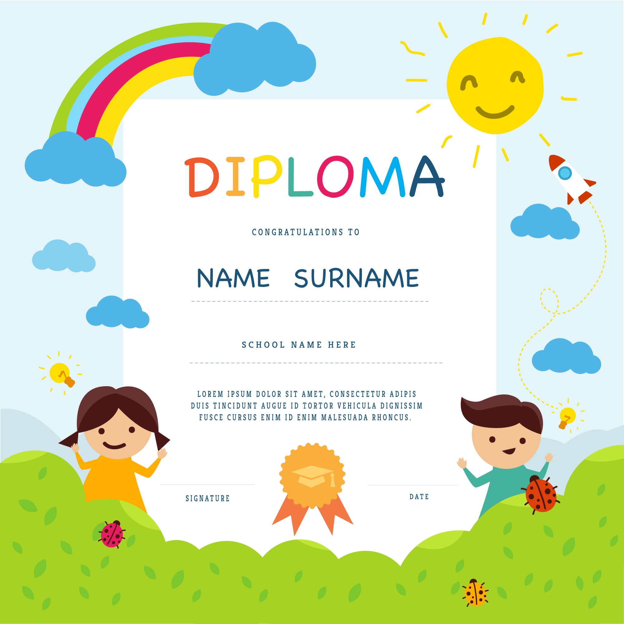 School diploma template