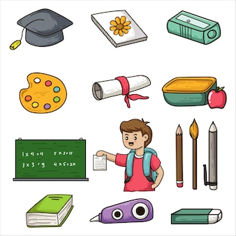 School doodle illustration