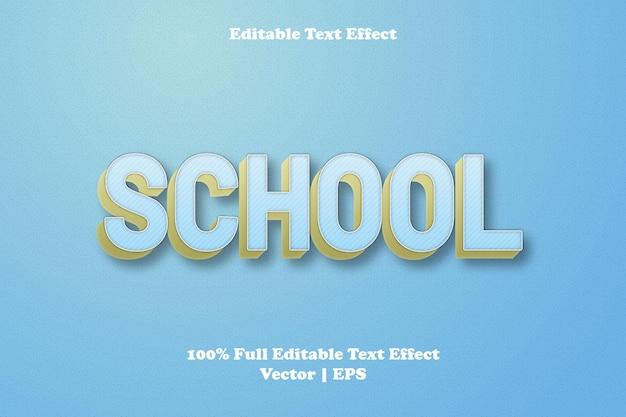Редактируемый текстовый эффект школы