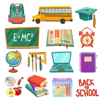 School and education icons collection