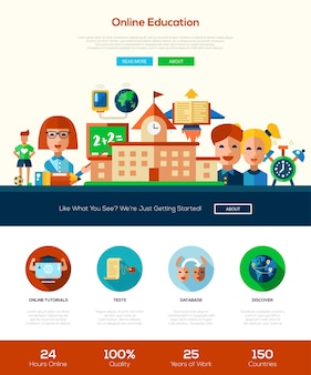 School and education website template
