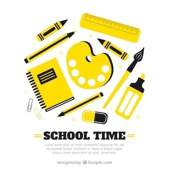 School elements background in flat style