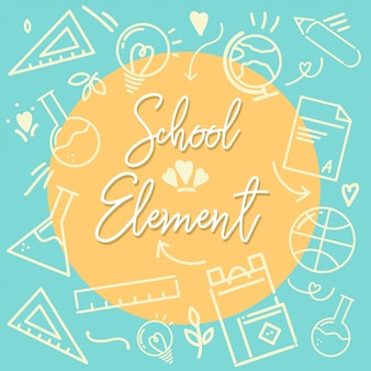 School ement outline icon green