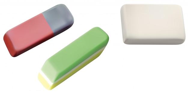 School eraser set