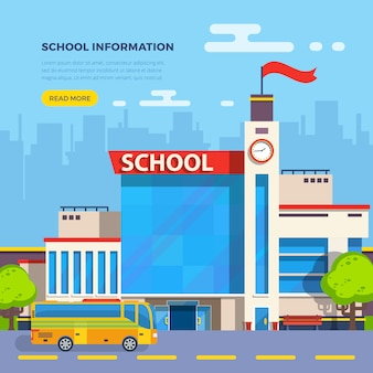 School flat illustration