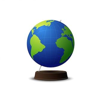 School globe isolated