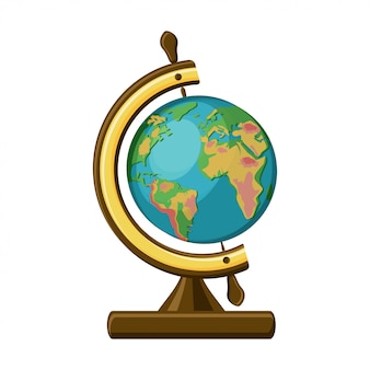 School globe in vintage style.