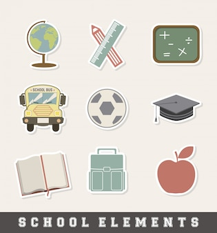 School icon over cream background vector illustration